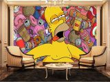 Garden Wall Murals Uk Homer Simpson Wall Mural Kids Wall Murals Amazon