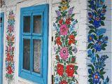 Garden Window Wall Mural Window Zalipie Poland