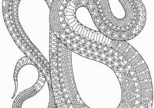 Garter Snake Coloring Page Zanimals Snake Coloring Page Adult Coloring Book от Edge Elfland