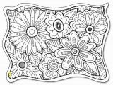 Gel Pen Coloring Pages Flower Coloring Page Freebie