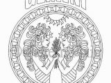 Gemini Coloring Pages Adult Coloring Page Zodiac Gemini Coloring Paper