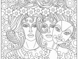 Gemini Coloring Pages Gemini Coloring Page Zodiac Coloring Pages for Adults