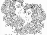 Gemini Coloring Pages Zodiac Sign Gemini Coloring Pages
