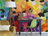 Geometric Wall Mural Ideas Colourful Wall Mural by Wallsauce Colourful