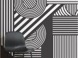 Geometric Wall Mural Ideas Geometric Black & White Wallpaper