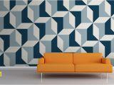 Geometric Wall Murals Uk Abstract Blue Geometric Wallpaper Patterns