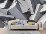 Geometric Wall Murals Uk Custom Abstract Geometry Wallpaper 3d Stereoscopic Art Wall Mural Living Room Bedroom Background Wall Gray Flower Wallpaper Flower Wallpapers From