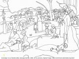 George Seurat Coloring Pages Art