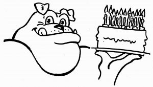Georgia Bulldogs Coloring Pages Uga Birthday Dawg Coloring Sheet Printable