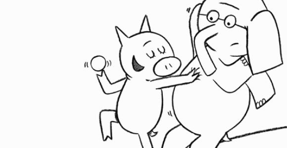 Gerald and Piggie Coloring Pages Elephant and Piggie Coloring Page Elephant and Piggie