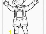 German Coloring Pages for Kids German Traditional Clothing Coloring Page