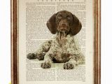 German Shorthaired Pointer Coloring Page Set Of 3 Prints German Shorthaired Pointer Art Print Dog Lover Gift Gsp Art Print Dog Nursery Poster Dog Wall Art Dictionary Art Print