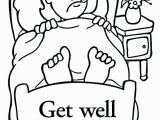 Get Well soon Grandpa Coloring Pages Feel Better Coloring Pages for Printable Get Well soon Coloring