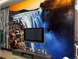Giant Scenic Wall Mural 3d Wall Mural Wallpaper Natural Landscape Big River Waterfalls Custom 3d Wallpaper Papel Parede Sala Rolo Home Improvement Beautiful Wallpaper