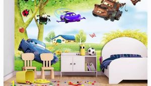 Giant Scenic Wall Mural Custom 3d Silk Mural Wallpaper Big Tree Scenery Fresh Children S Room Cartoon Background Mural Wall Sticker Papel De Parede Designer Wallpaper