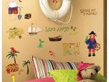 Giant Treasure Map Wall Decoration Mural 45 New Treasure Hunt Wall Decals Pirates Bedroom Stickers Kids Room Decorations