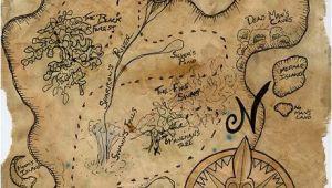 Giant Treasure Map Wall Decoration Mural Pirate Treasure Map