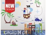 Giant Treasure Map Wall Decoration Mural Pirates Wall Decals Kids Wall Decals Children Wall