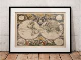 Giant Treasure Map Wall Decoration Mural Weltkarte Historische Weltkarte Antike Weltkarte