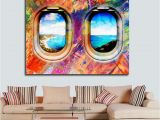 Giant Wall Murals Groupon Airplane Window Seat Travel Lovers Framed Canvas Wall Art Abstract Air