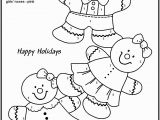 Gingerbread Girl Coloring Pages Printable Easy Color by Number for Preschool and Kindergarten with