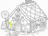 Gingerbread House Coloring Pages Christmas Gingerbread House Outline Projects to Try