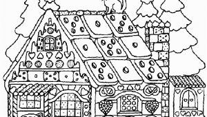Gingerbread House Coloring Pages for Adults Christmas Coloring Pages for Adults Gingerbread House 12