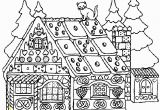 Gingerbread House Coloring Pages Pdf Christmas Coloring Pages for Adults Gingerbread House 12