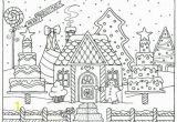 Gingerbread House Coloring Pages Pdf Gingerbread House Coloring Page Outstanding Gingerbread House