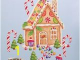 Gingerbread House Wall Mural 8 Best Wallies Holiday Peel & Stick Images
