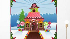Gingerbread House Wall Mural Amazon Wallmonkeys Wm Snowy Gingerbread House