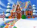 Gingerbread House Wall Mural Christmas Gingerbread House Painting at Artistrising
