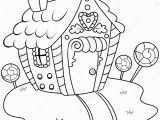Gingerbread Man House Coloring Pages Hansel and Gretel Candy House Coloring Page Coloring Pages
