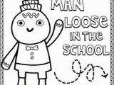 Gingerbread Man Loose In the School Coloring Page Gingerbread Man Loose In the School by Laura Murray Book