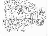 Girl Scout Brownie Coloring Pages Poster