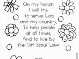 Girl Scout Law Printable Coloring Pages Girl Scout Law Coloring Pages Girl