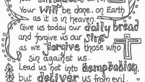 Glory Be Prayer Coloring Page Lord S Prayer Coloring Printables