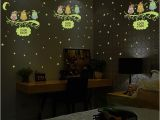 Glow In the Dark Star Murals Us $2 72 Off Luminous Owl Moon Star Wall Sticker Stars Glow for Kids Rooms Glow In the Dark Home Decor Good Night Fluorescent Mural Poster In Wall