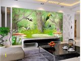 Glow In the Dark Wall Mural forest ᗕcustom Photo Wallpaper 3d Wall Murals Wallpaper forest