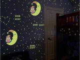 Glow In the Dark Wall Mural Window Us $2 64 Off Luminous Eule Mond Sterne Wand Aufkleber Sterne Leuchten Für Kinder Zimmer Glow In the Dark Wohnkultur Gute Nacht Neonlicht Wandbild
