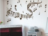 Glow In the Dark Wall Murals Amazon Hot Selling Large Size Music Note Wall Decals Graffiti Wall