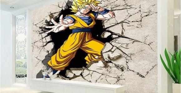 Glow In the Dark Wall Murals for Sale Dragon Ball Wallpaper 3d Anime Wall Mural Custom Cartoon