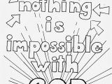 God S Word Coloring Page Coloring Pages for Kids by Mr Adron Nothing is Impossible for God