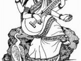 Goddess Saraswati Coloring Pages 199 Best Saraswati Images On Pinterest