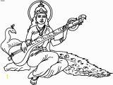 Goddess Saraswati Coloring Pages Pancha Coloring Page Saraswati Puja Coloring Page Pancha Coloring