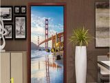 Golden Gate Bridge Wall Mural Amazon Pbldb 77x200cm 3d Golden Gate Bridge Door