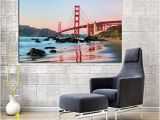 Golden Gate Bridge Wall Mural Amazon Yjffbh Retro Print Modern Abstract Golden Gate