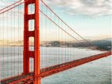 Golden Gate Bridge Wall Mural How to Do the Most Expensive U S Cities the Cheap