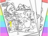 Goldie and Bear Coloring Pages 29 Best Gol & Bear Printables Images On Pinterest