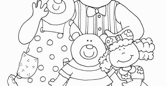 Goldilocks and the Three Bears Coloring Page Goldilocks and the Three Bears Mask Templates Sketch
